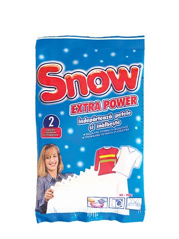 SNOW прахообразен екстра избелител за бяло и цветно пране